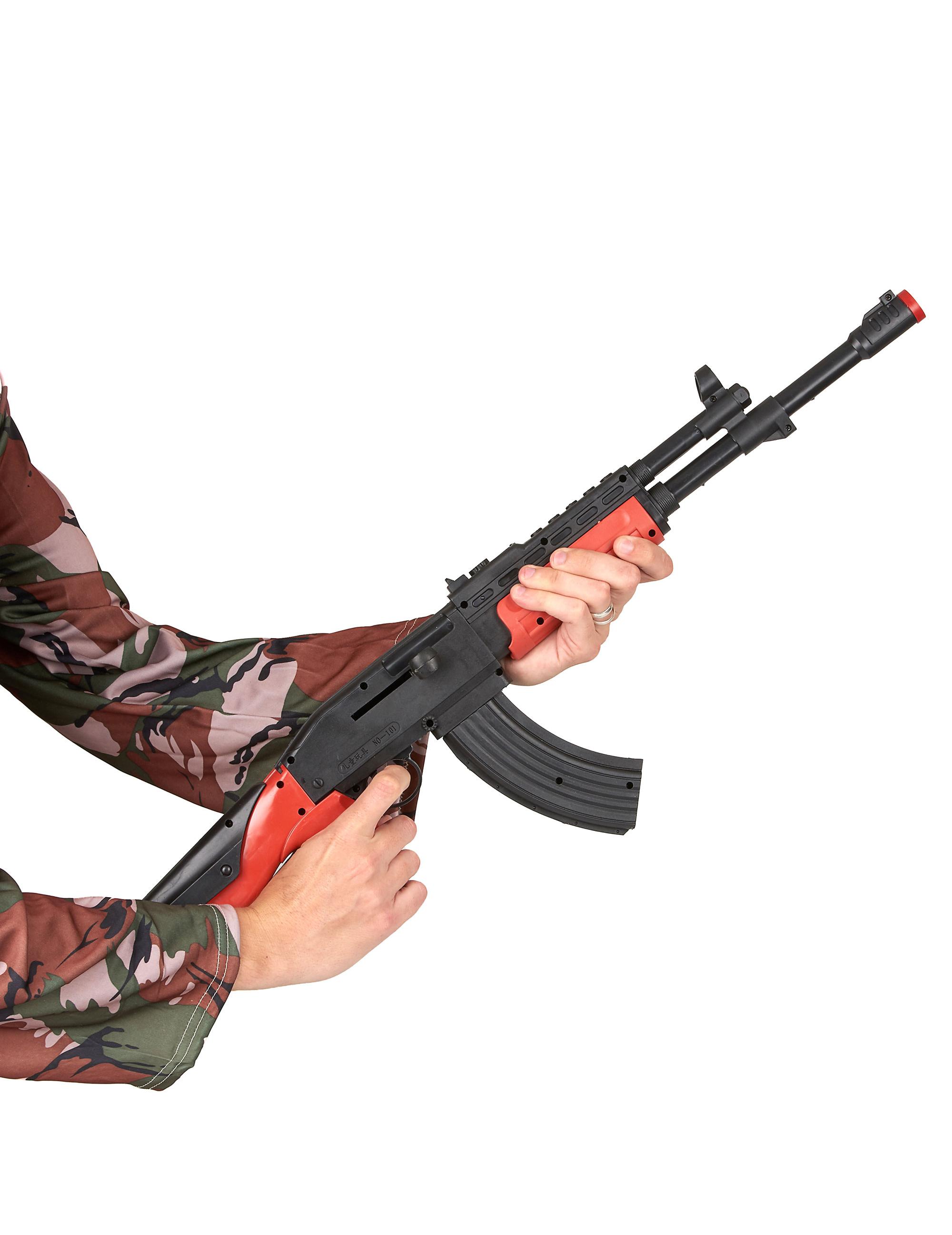 Kalachnikov de soldat en plastique adulte Cod.2466