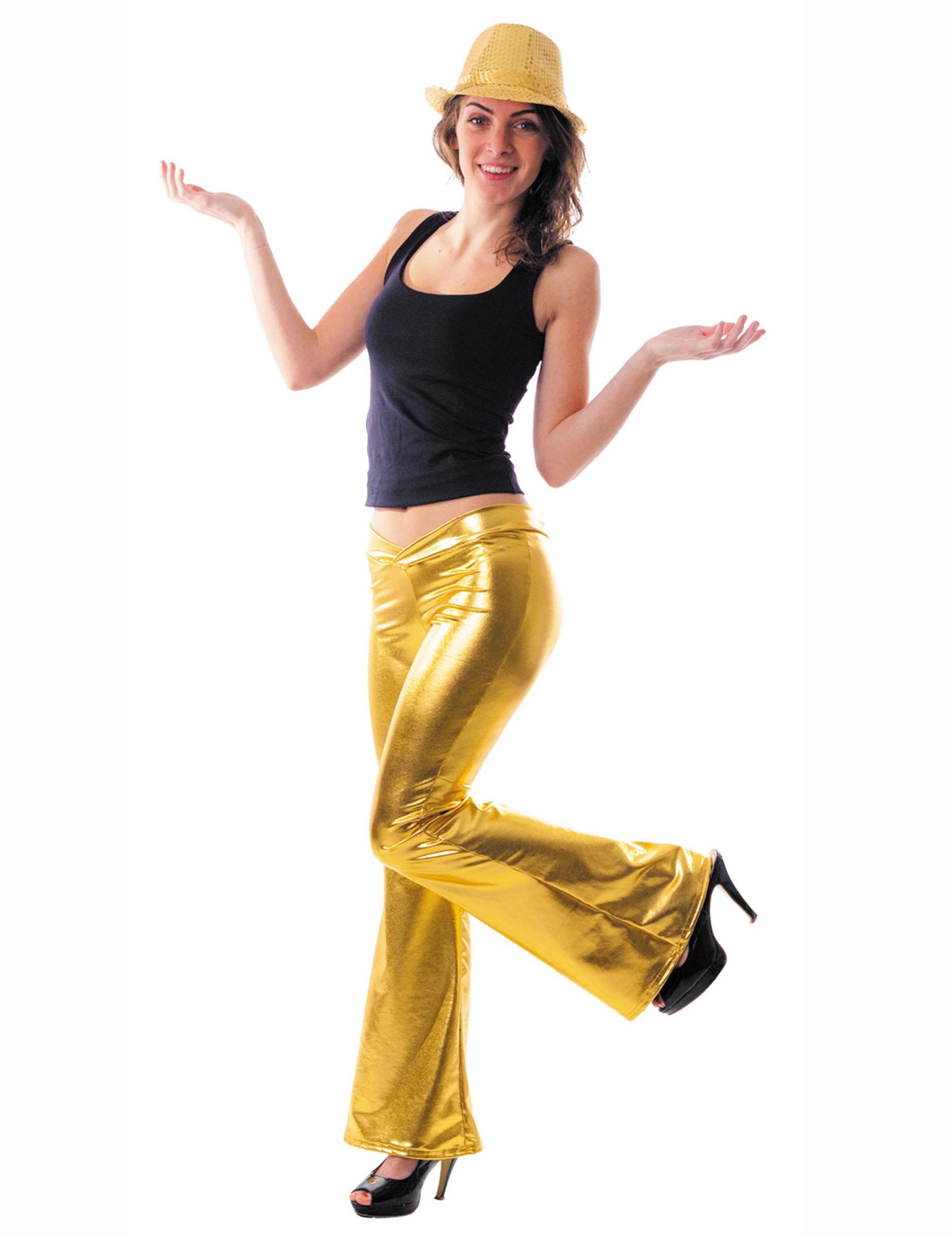 pantalon disco holographique or femme achat de d guisements adultes sur vegaoopro grossiste en. Black Bedroom Furniture Sets. Home Design Ideas