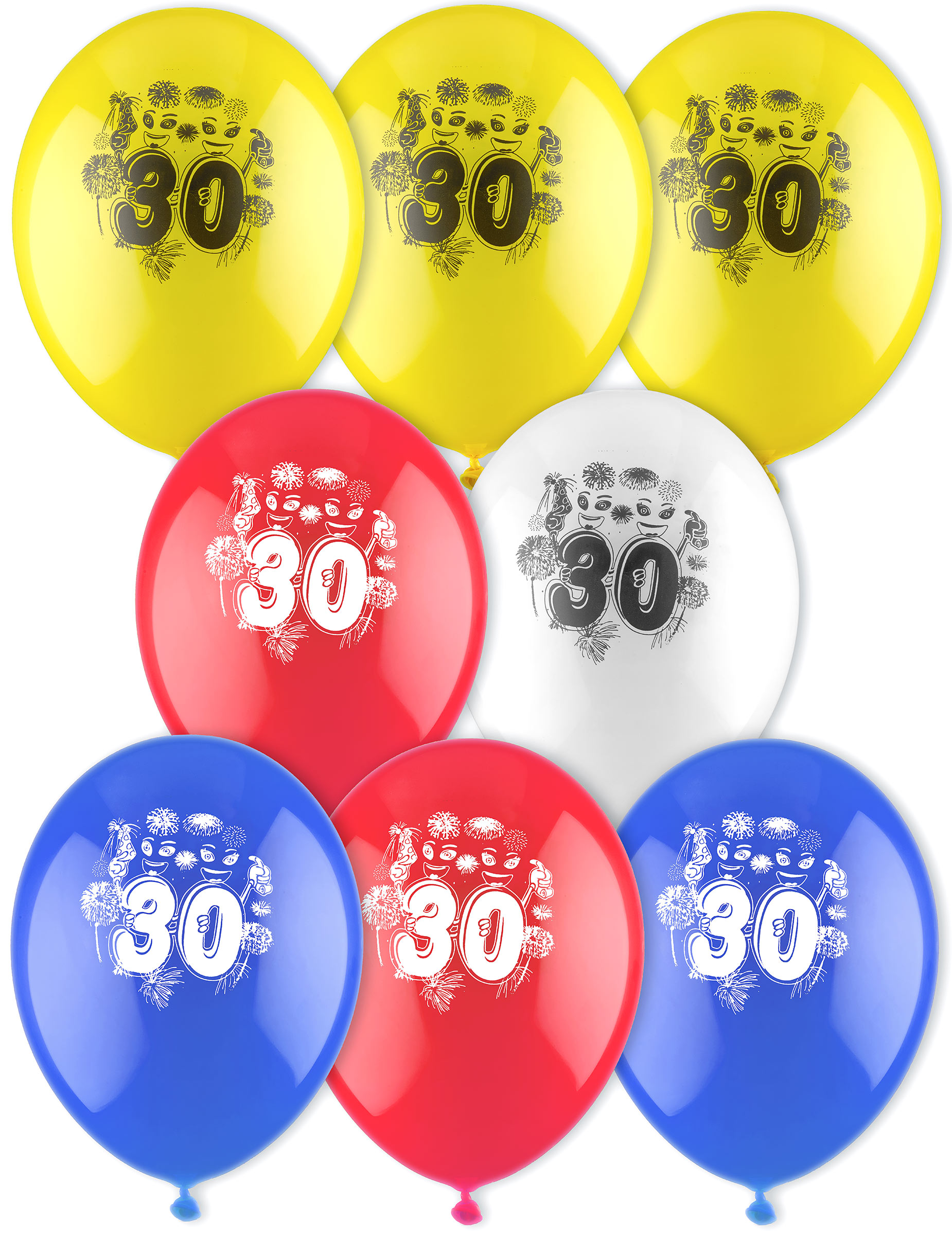 8 ballons d 39 anniversaire 30 ans achat de decoration animation sur vegaoopro grossiste en. Black Bedroom Furniture Sets. Home Design Ideas