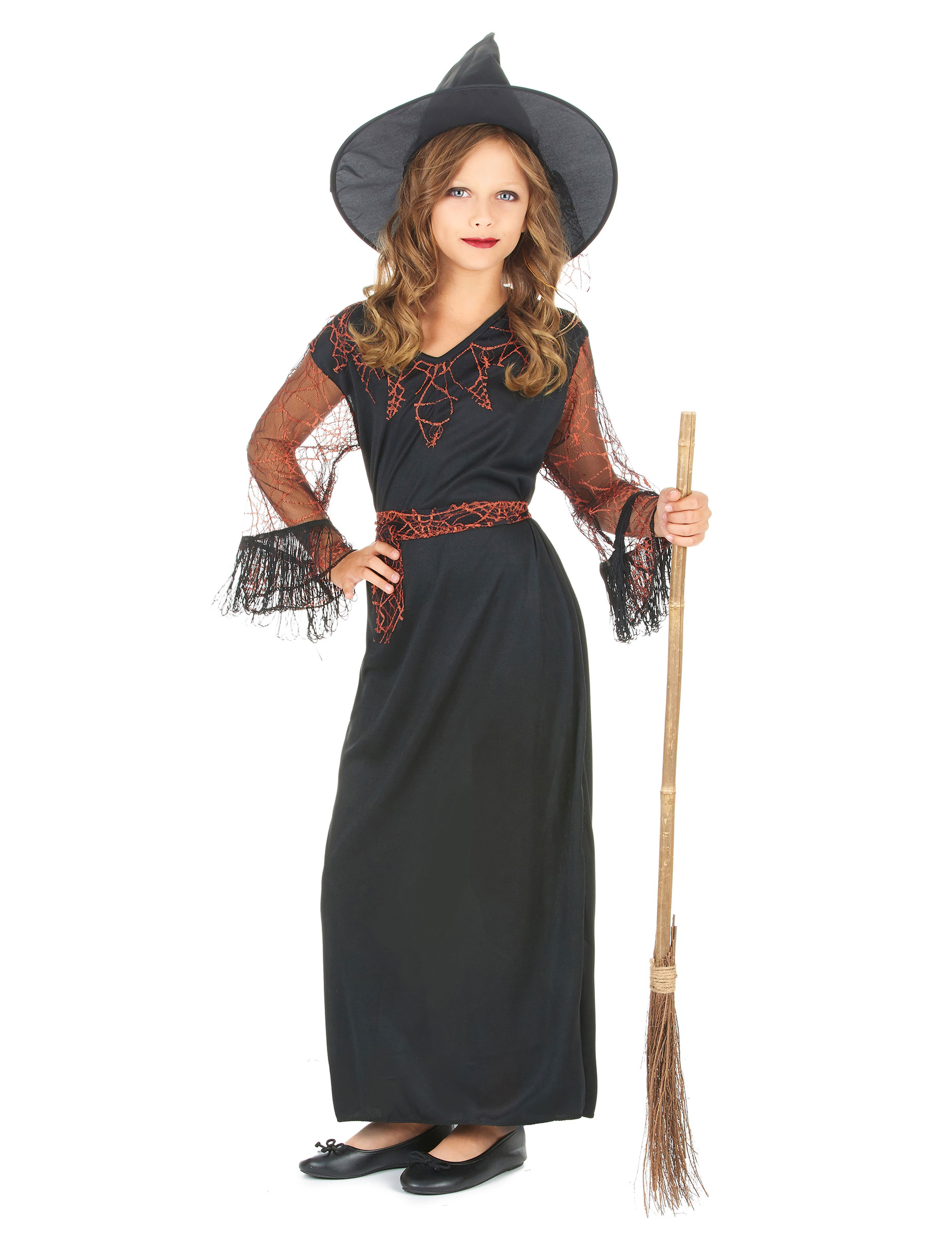 D guisement sorci re noir fille halloween achat de - Deguisement fille halloween ...