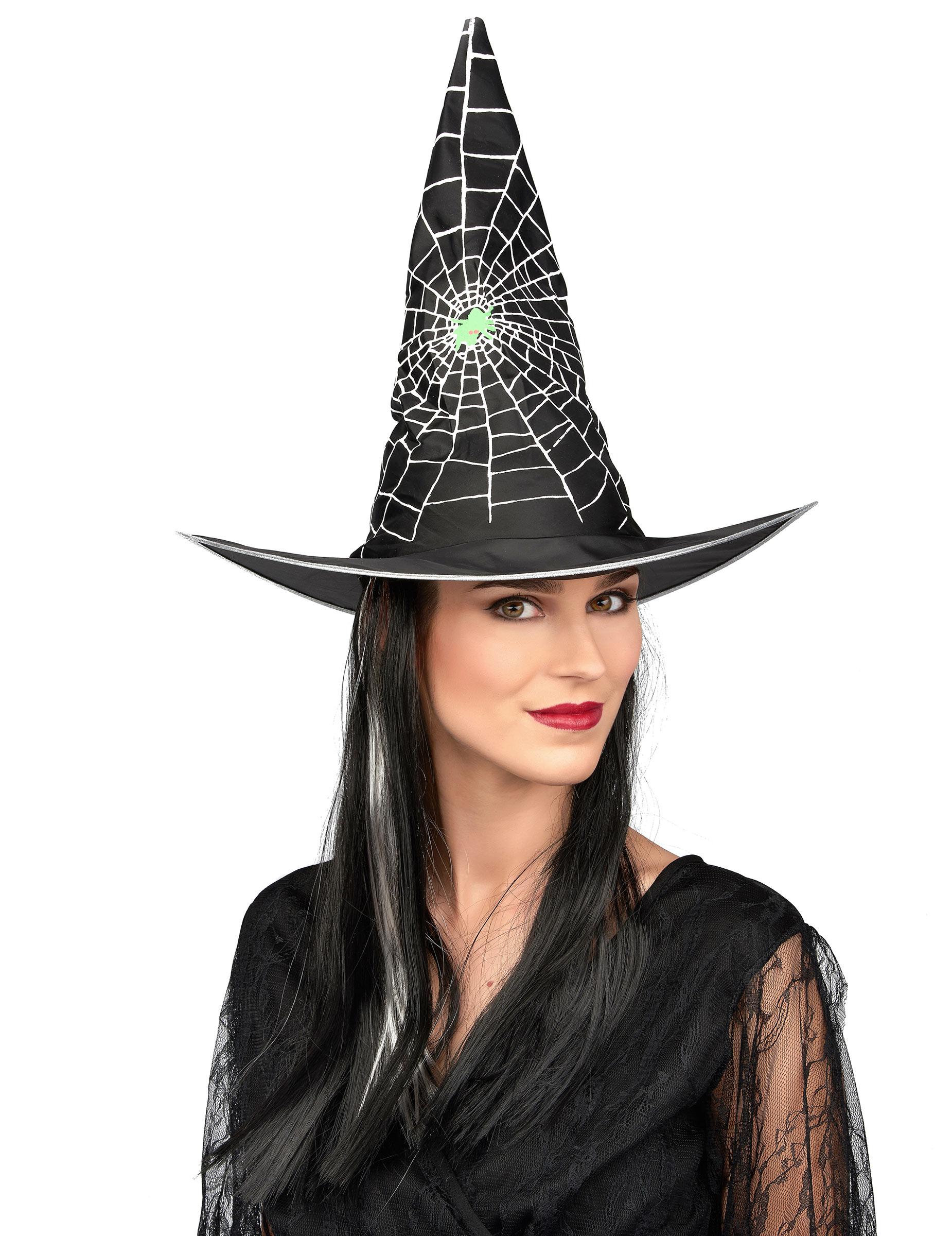 chapeau avec perruque sorci re noir et blanc femme halloween achat de chapeaux sur vegaoopro. Black Bedroom Furniture Sets. Home Design Ideas