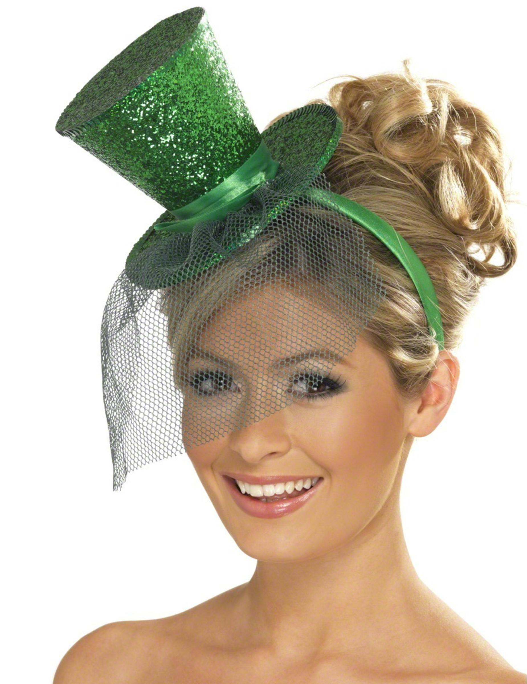 mini chapeau haut de forme vert femme achat de chapeaux sur vegaoopro grossiste en d guisements. Black Bedroom Furniture Sets. Home Design Ideas