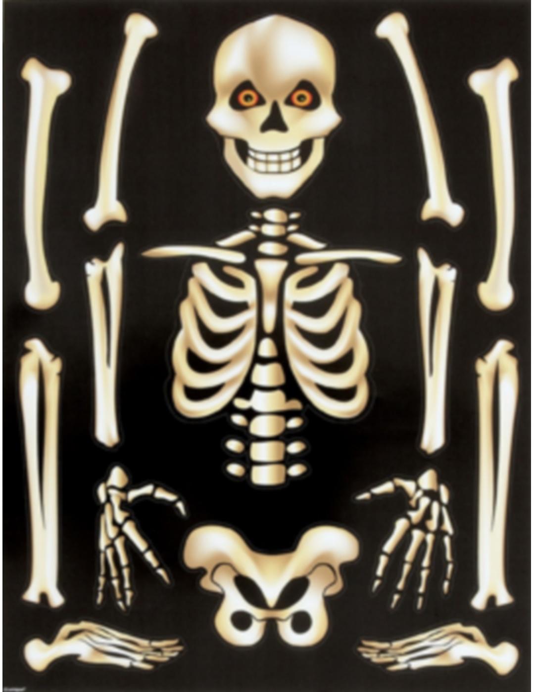autocollants pour fentres squelette halloween - Squelette Halloween