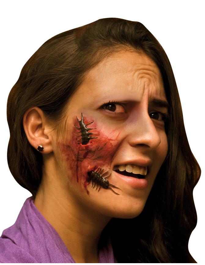 Fausse blessure visage adulte halloween achat de for Comidee maquillage halloween adulte