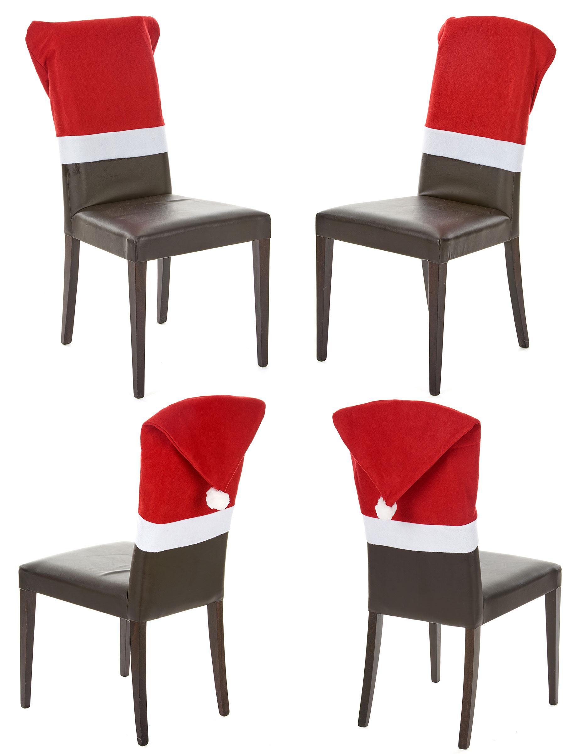 Lot 4 Housses De Chaise Rouge No L Achat De Decoration