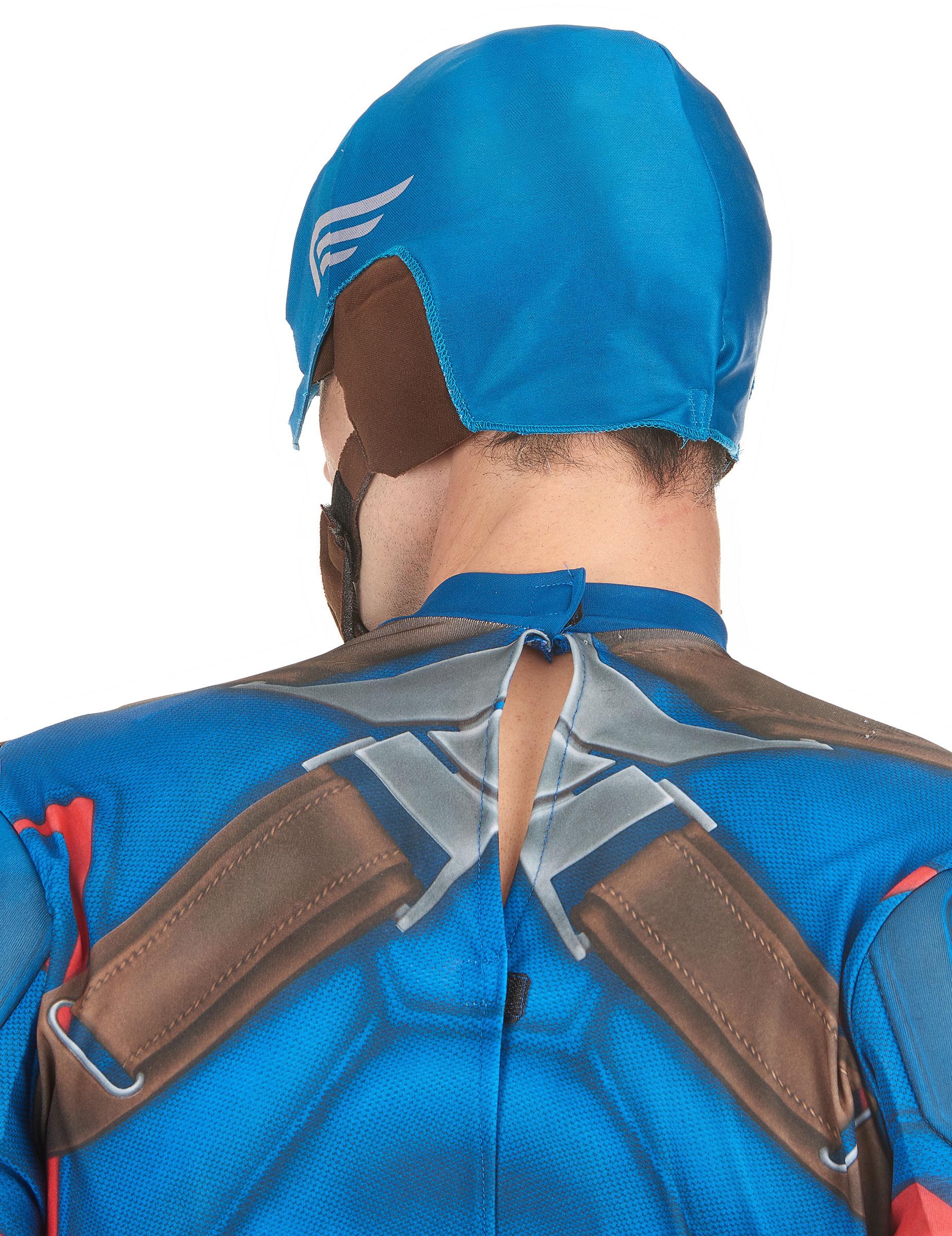 casque en tissu captain america adulte - Masque Captain America