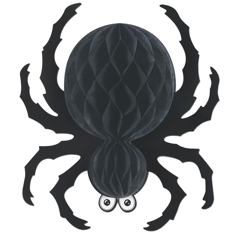 Image Araignée Halloween décoration araignée à suspendre noire halloween, achat de decoration