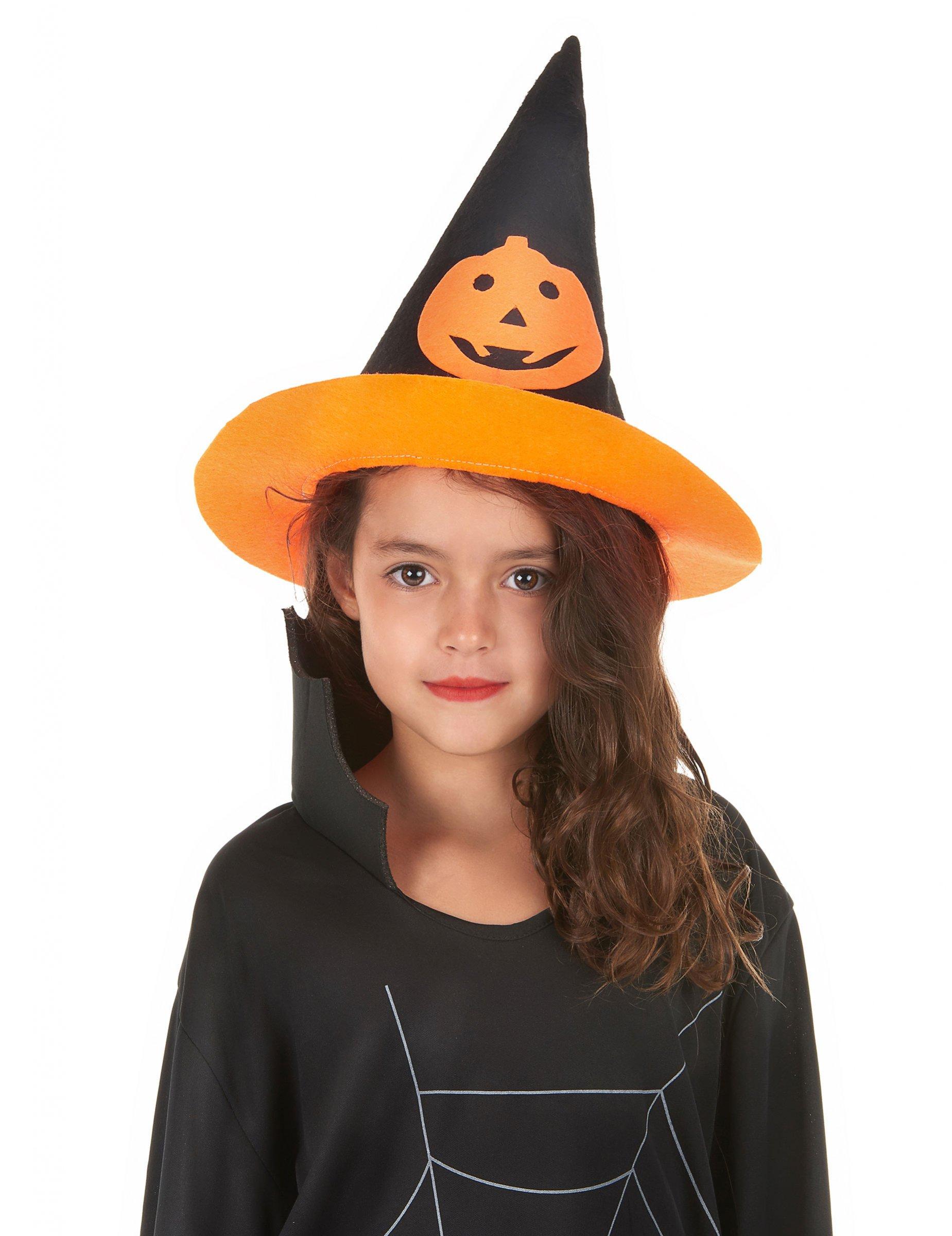 chaussures décontractées recherche de liquidation acheter authentique Chapeau sorcière citrouille enfant Halloween, achat de ...