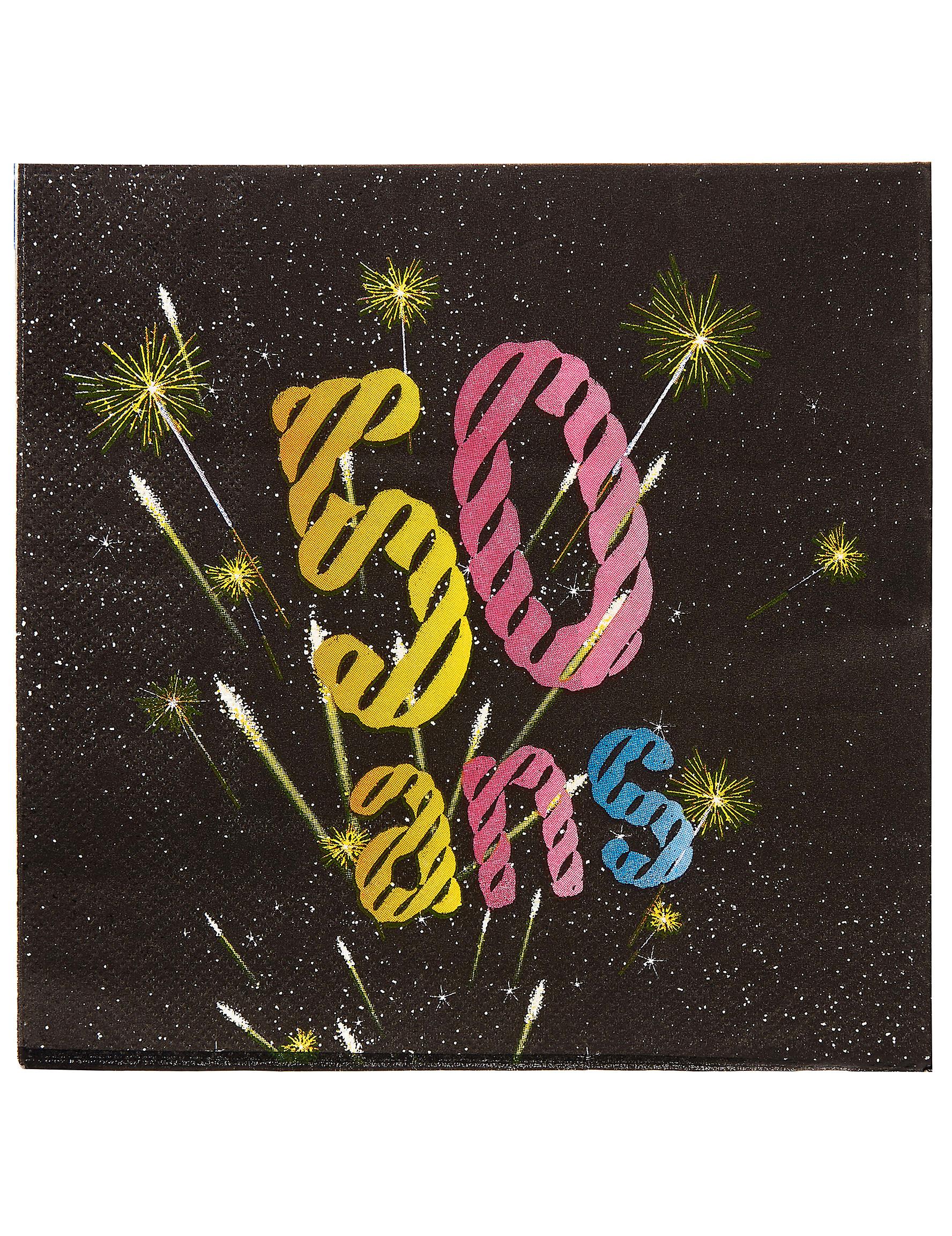 Häufig 20 Serviettes papier 50 ans Feux d'artifice 33 x 33 cm, achat de  XT68