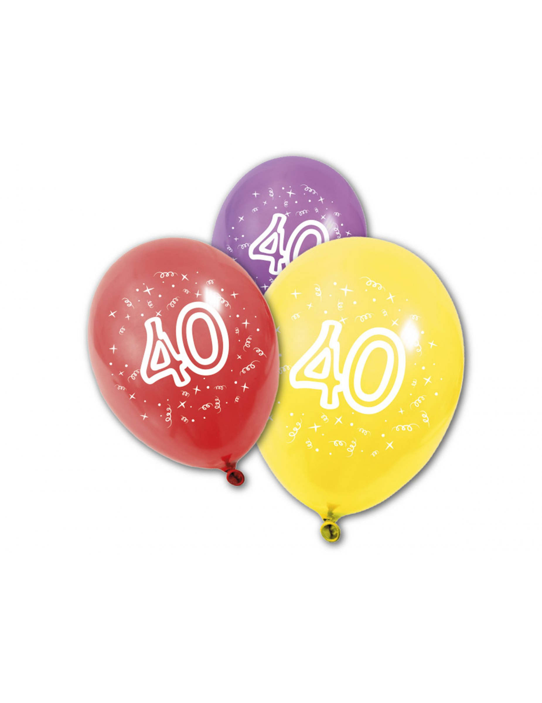 8 ballons en latex anniversaire 40 ans achat de decoration animation sur vegaoopro grossiste. Black Bedroom Furniture Sets. Home Design Ideas