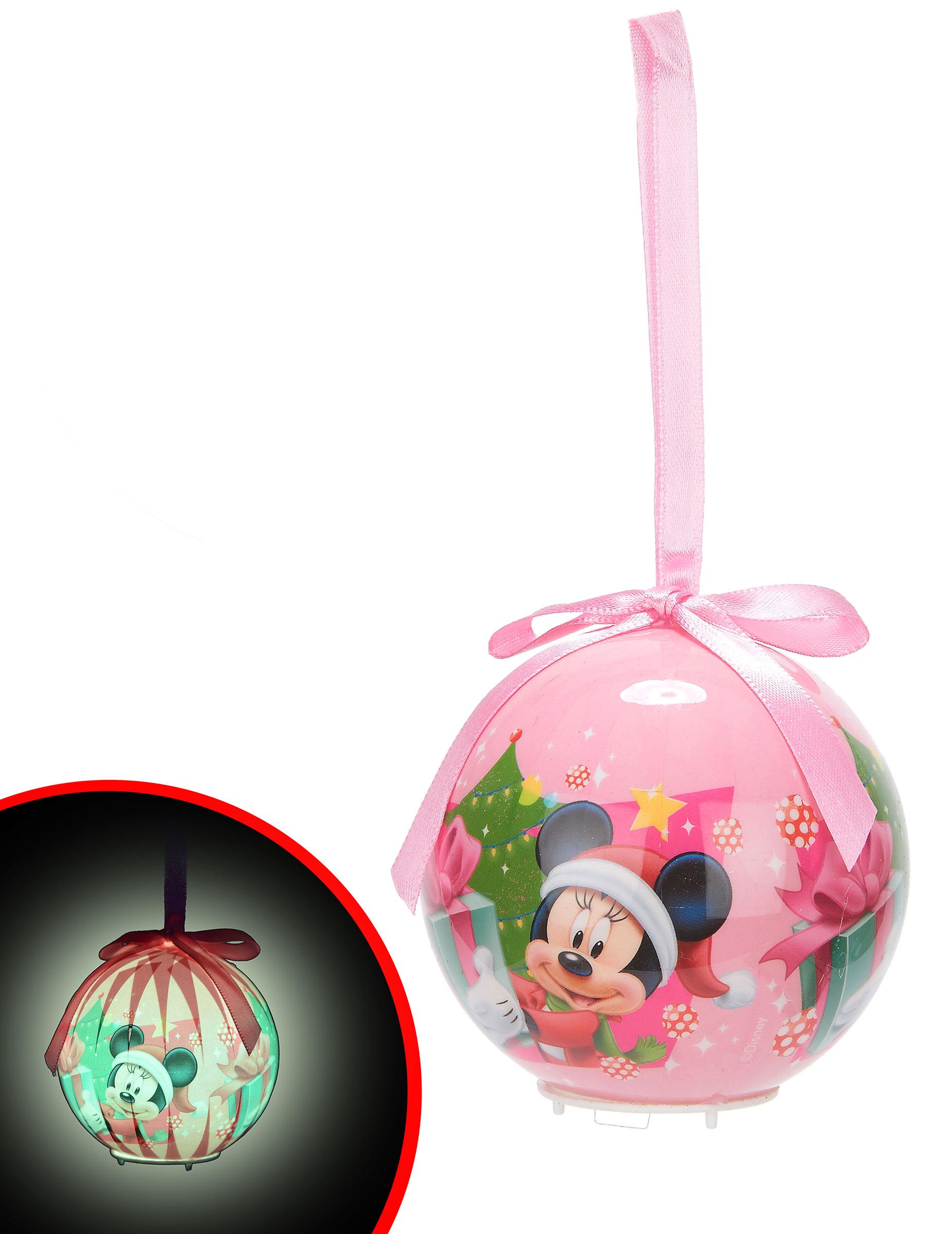 boule lumineuse minnie™ 7,5 cm noël, achat de decoration / animation