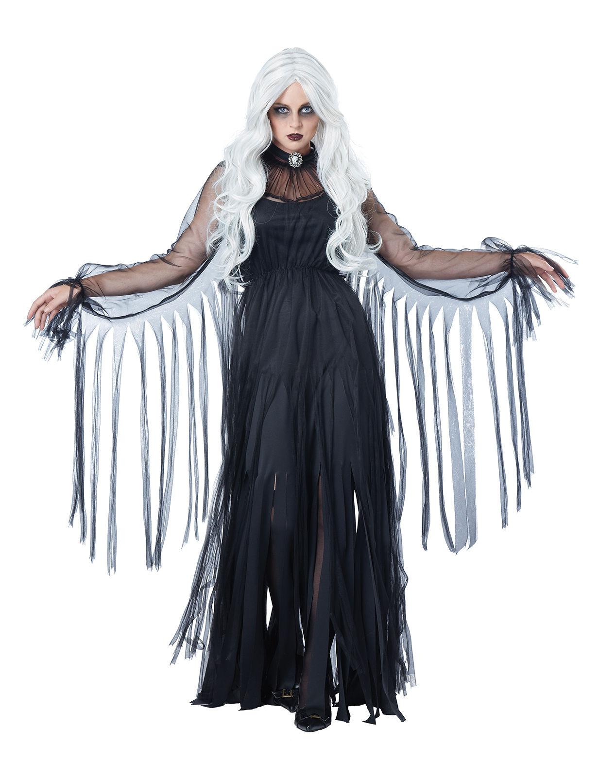 Déguisement fantôme élégant Halloween femme noir, achat de ...