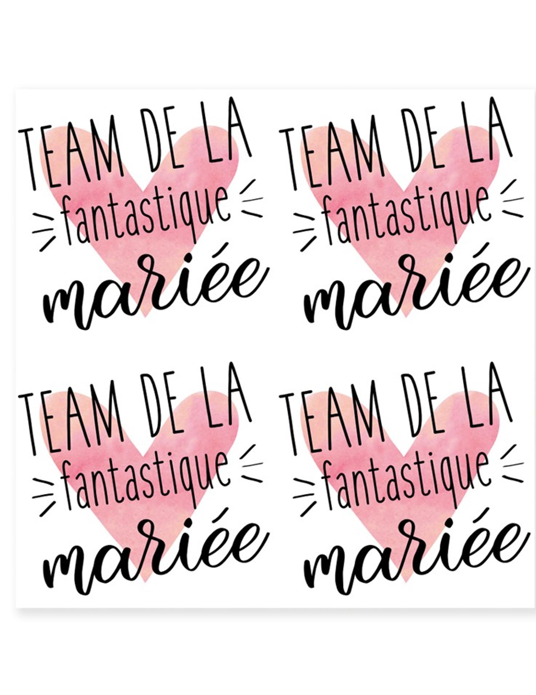 Tatouage Ephemere Team Mariee 80 Mm Achat De Maquillage Sur