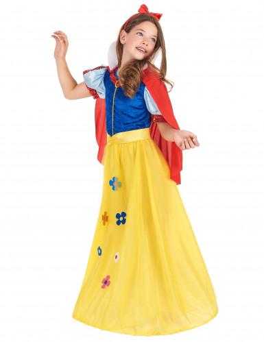 Déguisement princesse à fleur fille