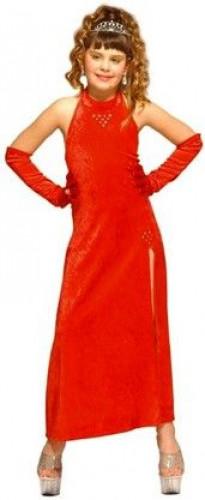 Déguisement cabaret glamour rouge fille