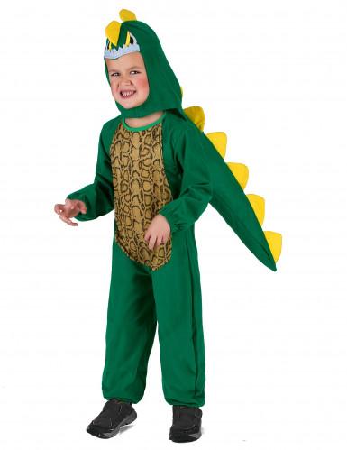 Déguisement dinosaure vert et jaune enfant