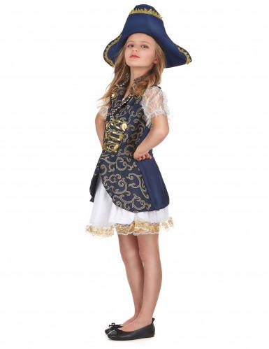 Déguisement pirate bleu foncé fille
