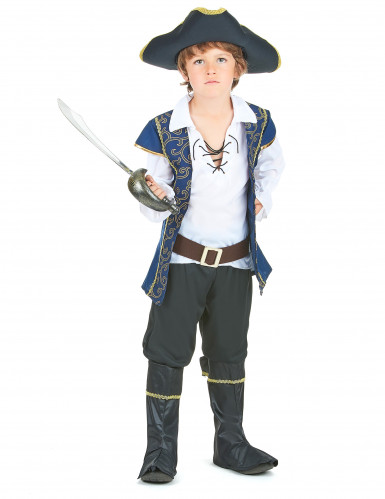 Déguisement pirate bleu et blanc garçon
