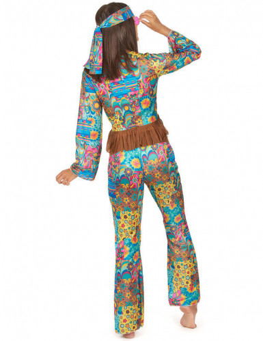 Déguisement hippie col V femme