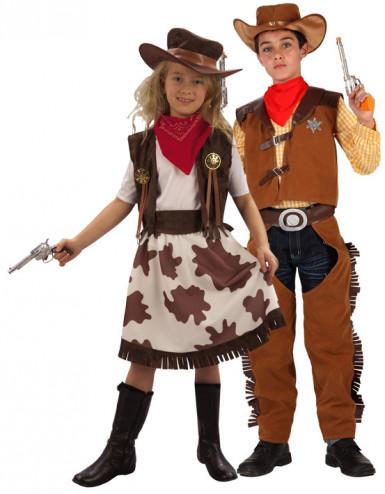 Déguisement couple cowboy & cowgirl enfants