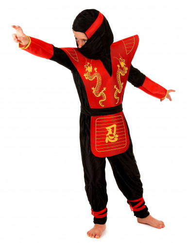 Déguisement ninja motifs dragons garçon