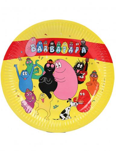 6 Assiettes en carton Barbapapa™ 23 cm