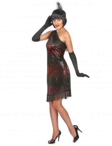 Déguisement charleston femme noir et rouge