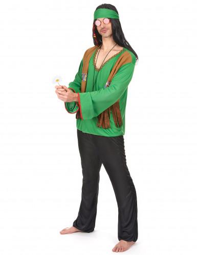 Déguisement hippie homme vert et noir