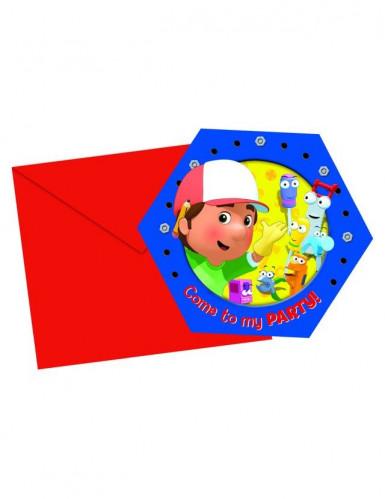 6 Cartes d'invitation Manny et ses outils™