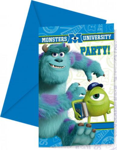 6 Cartes d'invitation Monstres Academy™