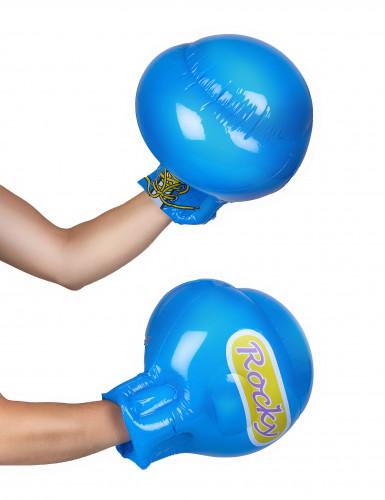 Gants boxe bleus gonflables