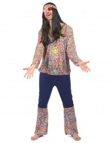 Déguisement hippie motif psychédélique homme