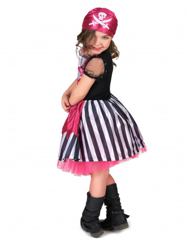 Déguisement pirate robe rose fille