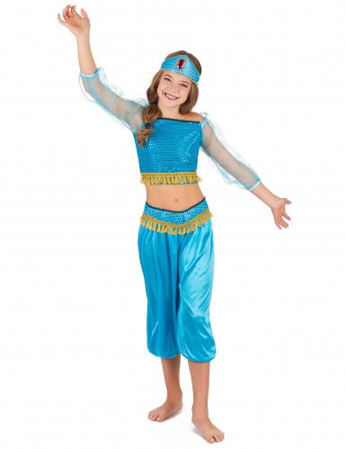 Déguisement danseuse orientale bleue fille