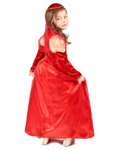Déguisement médiéval rouge fille