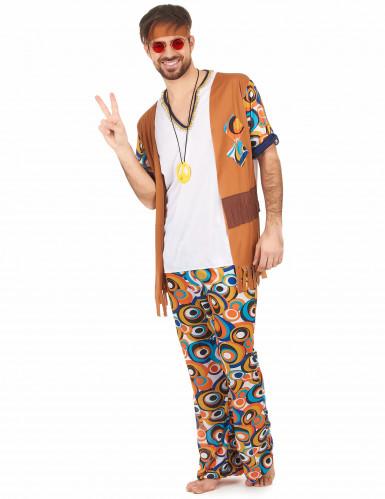 Déguisement hippie motifs ronds homme
