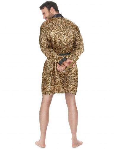 Peignoir léopard homme