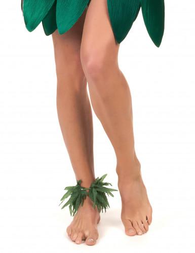 Bracelet poignet ou cheville feuilles tropicales