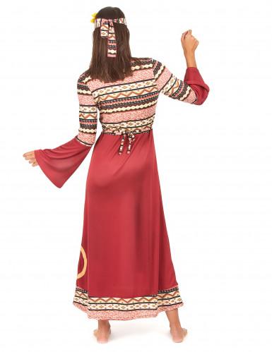 Déguisement hippie bordeaux femme