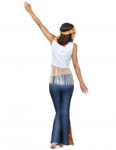 Déguisement hippie à frange femme