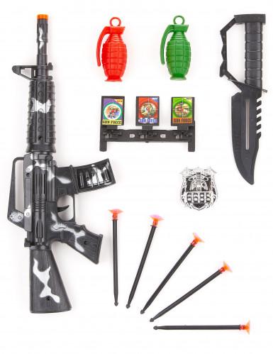 Kit complet Militaire enfant en plastique