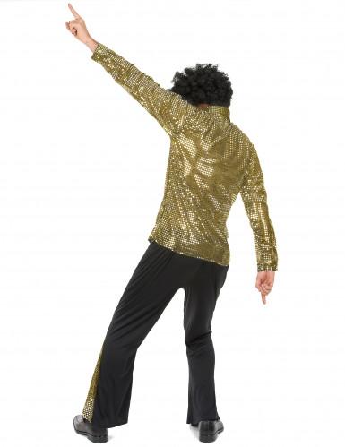 Déguisement disco doré à paillettes homme