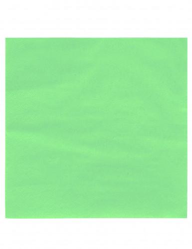 50 Serviettes vert anis 38 x 38 cm