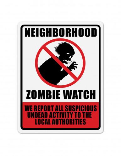 Panneau décoratif interdit zombie 43 x 33 cm
