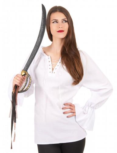 Chemise manches longues blanche femme
