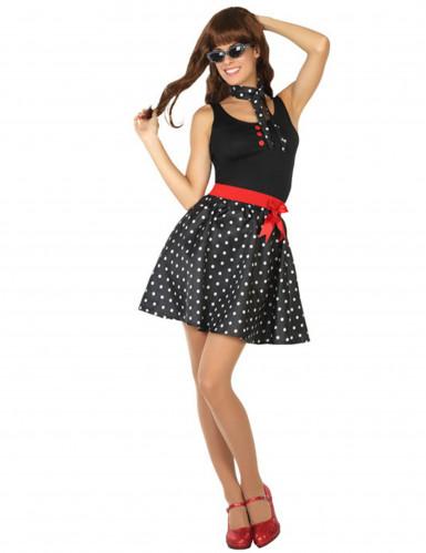 Déguisement robe années 50 noire