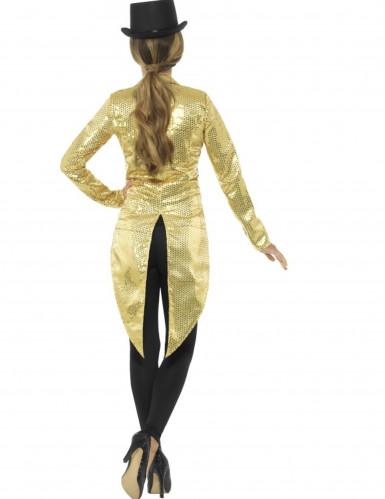Queue de pie dorée à sequins femme