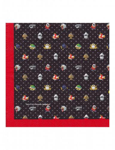 20 Serviettes en papier Super Mario™ 33 x 33 cm