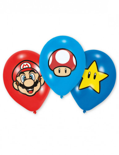 6 Ballons Latex Super Mario ™