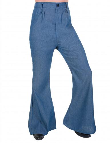 Pantalon disco pattes d'éléphant couleur Jeans homme